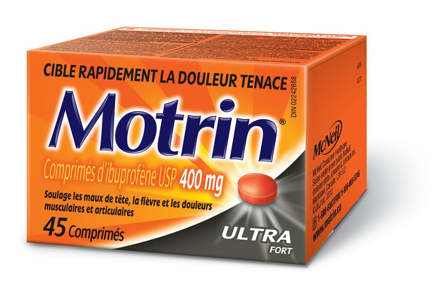 Comprimés analgésiques à base d'ibuprofène | MOTRIN® CANADA