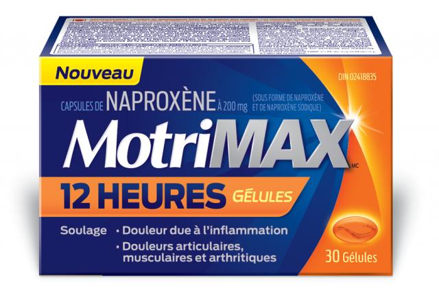 Gélules  MOTRIMAXMC 12 HEURES